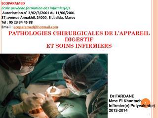 ECOPARAMED École privéede formation des infirmier(e)s Autorisation n° 3/02/3/2001 du 11/06/2001