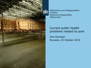 Current public health problems related to pork