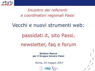 Incontro dei referenti  e coordinatori regionali Passi