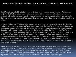 Sketch Your Business Pitches Like A Pro With Whiteboard Mojo