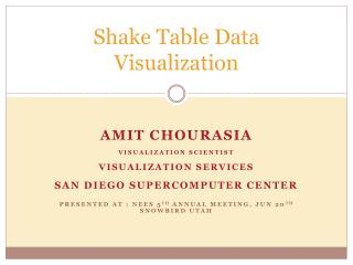 Shake Table Data Visualization