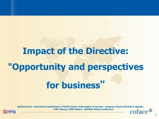 Impact of the Directive: