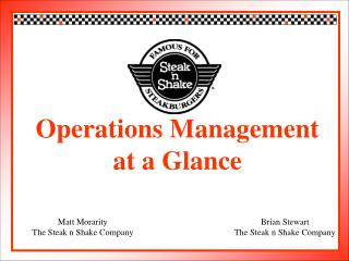 Operations Management  at a Glance