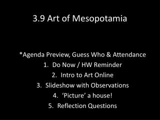 3.9 Art  of Mesopotamia
