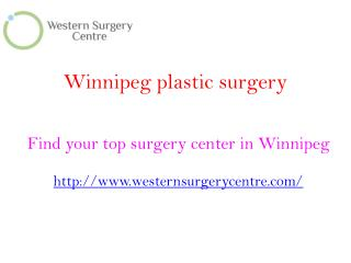 Winnipeg Plastic Surgery