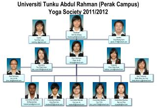 Universiti Tunku Abdul Rahman (Perak Campus) Yoga Society 2011/2012