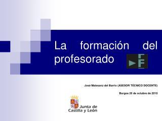 La formación del profesorado