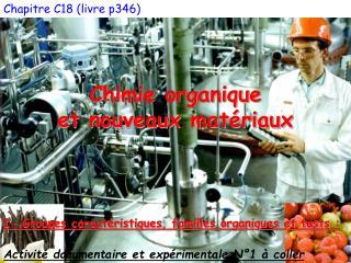 Chapitre C18 (livre p346) Chimie organique et nouveaux matériaux