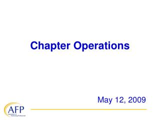 Chapter Operations