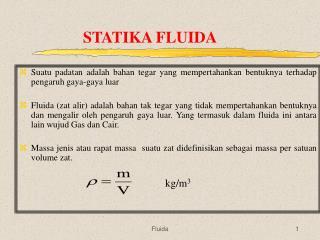STATIKA FLUIDA