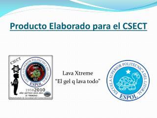 Producto  Elaborado para  el CSECT