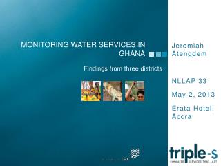 Monitoring water services in  ghana