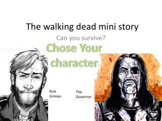 The walking dead mini story