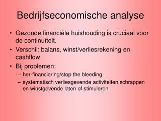 Bedrijfseconomische analyse