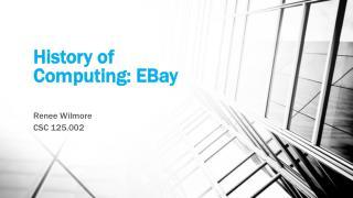 History of Computing: EBay
