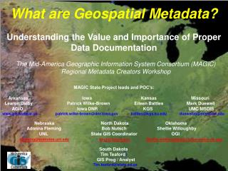 What are Geospatial Metadata?