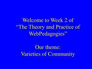 Agenda     Part 1: class session (2 hrs)