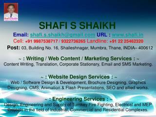 SHAFI S SHAIKH