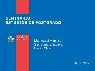 SEMINARIO ESTUDIOS DE POSTGRADO