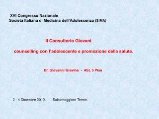 XVI Congresso Nazionale Società Italiana di Medicina dell'Adolescenza  (SIMA)
