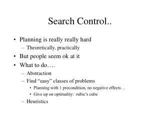 Search Control..