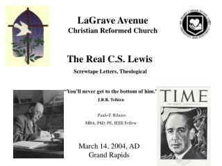 """The Real C.S. Lewis  Screwtape Letters, Theological  """"You'll never get to the bottom of him."""""""