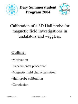 Desy Summerstudent Program 2004