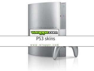 PS3 Skins & Stickers by Wrappz UK