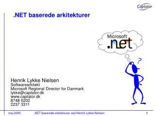 .NET baserede arkitekturer