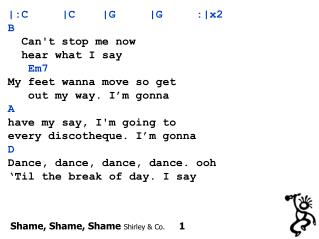 Shame, Shame, Shame  Shirley & Co.      1