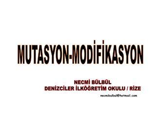 MUTASYON-MODİFİKASYON