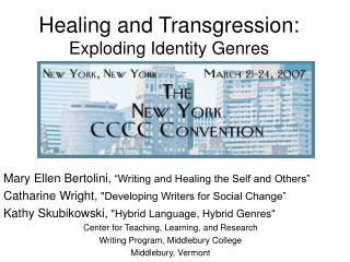 Healing and Transgression:  Exploding Identity Genres