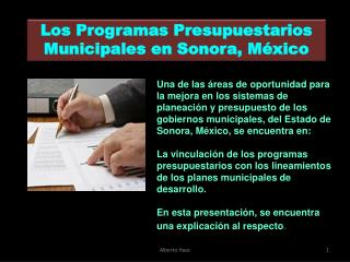 Los Programas Presupuestarios Municipales en Sonora, México