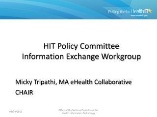 Information Exchange WG