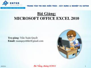 Bài Giảng: MICROSOFT OFFICE EXCEL 2010