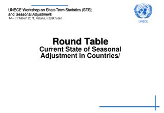 Round Table Current State of Seasonal Adjustment in Countries/