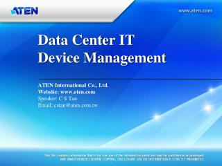 Data Center IT Device Management