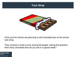 Chris and his friends are planning to sell chocolate bars at the school tuck shop.