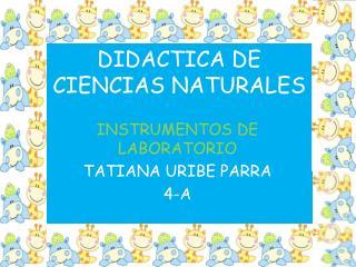 DIDACTICA DE CIENCIAS NATURALES