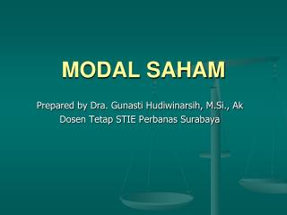 MODAL SAHAM