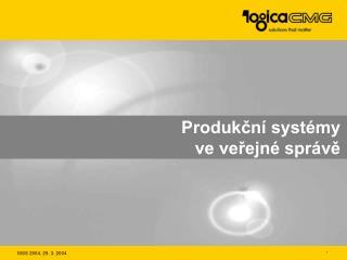 Produkční systémy ve veřejné správě
