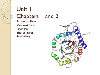 Unit 1 Chapters 1 and 2