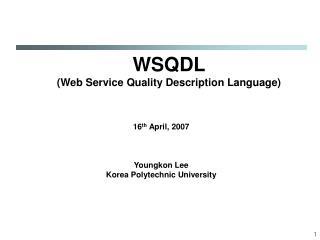 WSQDL (Web Service Quality Description Language)