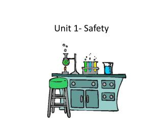 Unit 1- Safety