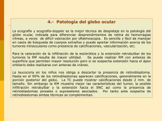 4.-  Patología del globo ocular