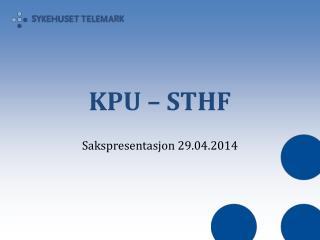KPU – STHF