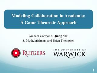 Modeling Collaboration in Academia: A Game Theoretic Approach