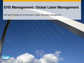 EHS Management: Global Label Management