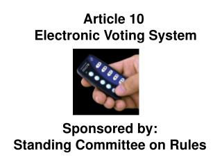 Article 10  Electronic Voting System