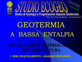GEOTERMIA   A  BASSA  ENTALPIA
